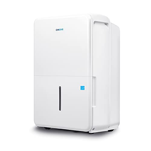 CHIONE 4,500 Sq. Ft. Energy Star Certified Dehumidifier with Pump for Moisture Removal - Eliminates 50 Pints of Water a Day Making It Ideal for Basements, Bathrooms, Bedrooms, and Garages (White)