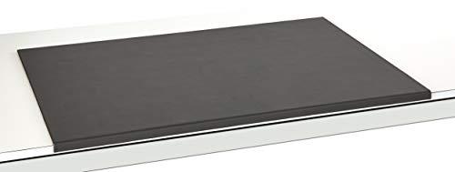 Luxentury Schreibtischunterlage Schreibunterlage Leder Kantenschutz: 88x59 cm Echtleder abgewinkelt Auflage schwarz rutschfest für Büro, USO880590