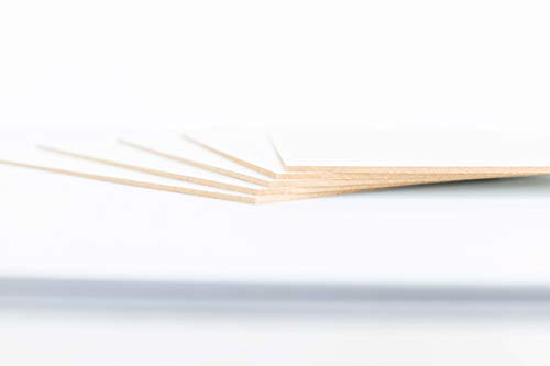 3 mm weiße Holzbretter. Verfügbare Größen A0, A1, A2, A3, A4, A5 (Auswahl), Zeichenhalter, Rahmen, Basteln, Dekoration, Laserdrucker, Brandmalerei, Malerei A4 (5ud) weiß