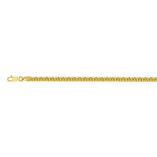 14 quilates oro amarillo 3.95 mm sólido caja redonda 150 cierre de langosta pulsera 8.50 pulgadas joyería regalos para mujeres
