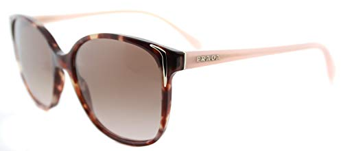 Prada 0PR01OS UE00A6 55 gafas de sol, Marrón (Spotted Brown Pink/Brown), Unisex-Adulto