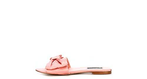 ZIGI SOHO Womens Valiant Satin Open Toe Flat Sandals Pink 8.5 Medium (B,M)