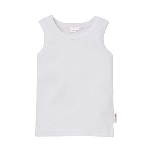 Bornino Basics Unterhemd/Hemdchen/Unterwäsche - Farbe: einfarbig weiß, ohne Arm, Baumwolle, Öko-Tex Zertifiziert - Baby Bekleidung für Jungen/Mädchen/Unisex