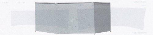 ISABELLA Windschutz STANDARD / PVC - 460 x 130 - GRAU - VERTRIEB durch - Holly ® Produkte STABIELO ® - holly-sunshade ® - patentierte Innovationen im Bereich mobiler universeller Sonnenschutz - Made in Germany -