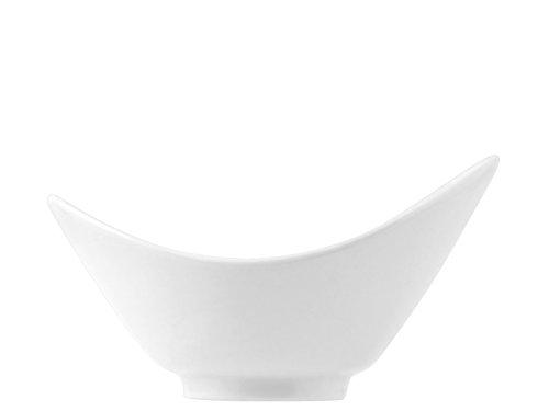 H&H 9088015 Bol Ovale 15 cm, Porcelaine, Blanc