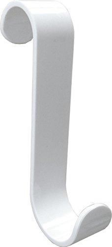 De-Plastik HEIZKÖRPERHAKEN für Rundheizköper, Weiss, 10er-Set - Zwei unterschiedliche Radien Ø 23 mm und Ø 28 mm, dadurch vielseitig einsetzbar