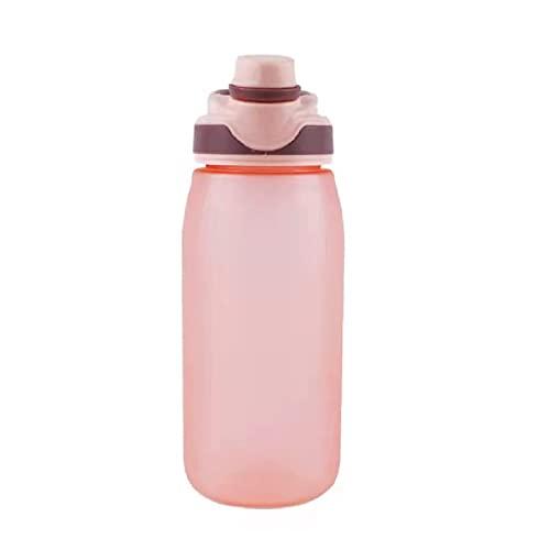 Jsmhh Botella Deportiva al Aire Libre Copa de Espacio Verano Simple Handle Frosted Mango Botella Tritan Estudiante Taza portátil Botella portátil Handy Bottle Blue 2 600ml
