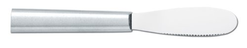 Rada Cutlery Spreader Knife – Stainless Steel Serrated Blade With Aluminum Handle Made in the USA
