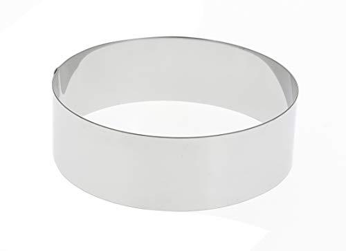 Cercle à gâteau de De Buyer, acier inoxydable, 4,5 cm de hauteur, Acier inoxydable, Silver, 16 x 16 x 4.5 cm