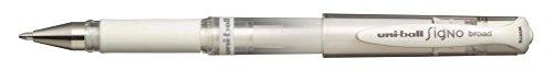Uni-Ball Signo Broad UM153 BL Roller Encre Gel 1 mm Blanc Lot de 12