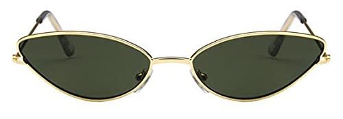Gafas de Sol Gafas De Sol para Mujer, De Lujo, Ojo De Gato, Diseño De Marca, Marco De Metal, Dorado, Rojo, Vintage, Ojo De Gato, Moda, Gafas De Sol, Gafas para Dama, Dorado, Verde Oscuro