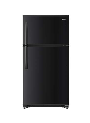 WINIA WTE21GSBCD 21 Cu. Ft. Top Mount Refrigerator/Ice Maker Ready - Black