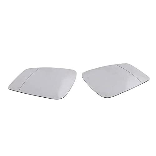 MSRRY Ajuste derecho/izquierdo para BMW F20 F22 F30 F34 2010-2014 3 Serie 2 pin lateral con calefacción de ala de ala espejo de cristal blanco (Color : White)