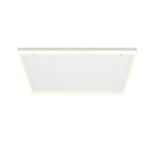 KLARSTEIN Midnight Sun - Pannello Radiante a Infrarossi da Soffitto, Luce LED Decorativa, Bianco Caldo & Bianco Freddo, Protezione da Surriscaldamento, Timer, 70,5x70,5 cm, 350Watt, Bianco