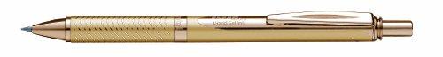 Pentel - Penna a sfera a inchiostro liquido in gel BL407-A, tratto grosso, meccanismo a pressione, 0.35mm gold