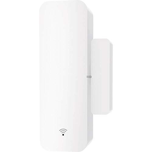 IWIIK Alarma Inteligente Smart para Puertas y Ventanas, Sensor Magnético con Seguridad Antirrobo y Conexión WiFi, Compatible con Alexa y Google Home, Control y Protección del hogar o empresas