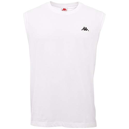 Kappa IROMO 2 Men Camiseta, Blanco Brillante, S para Hombre