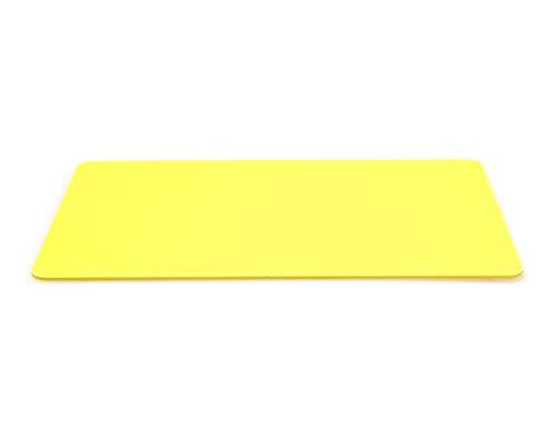 PAC Supplies Global Ltd - Tarjetas de identificación de plástico PVC en blanco para impresoras Magicard, Evolis, Zebra, Smart, Javelin, Fargo, Datacard, 100 unidades, color amarillo