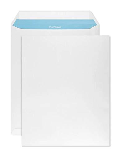 Netuno 250 buste a sacco bianche formato C4 229x 324 mm buste commerciali C4 bianco con stampa interna blu Promail senza finestra con strip adesivo per la corrispondenza aziendale lettere
