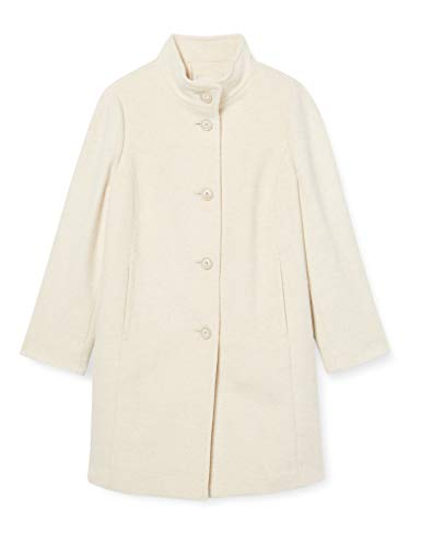GERRY WEBER Edition Womens Mantel Wolle Trenchcoat, Ecru/Weiss Gemustert, 36