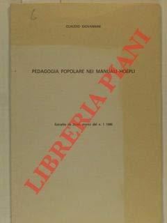 Pedagogia popolare nei Manuali Hoepli.