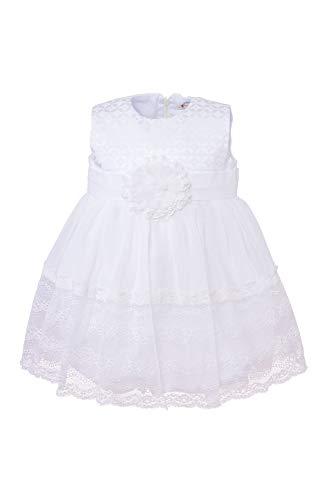Cocolina Lina edles Taufkleid Festkleid Blumenmädchenkleid Kleid Ivory (80-12M)