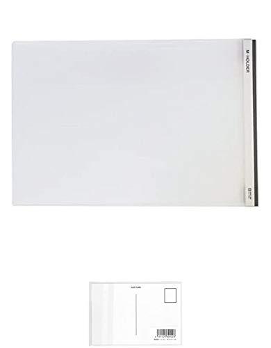 キングジム Mホルダー(ヨコガタ) A4E 733E 乳白 + 画材屋ドットコム ポストカードA