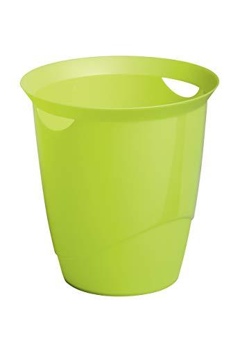 Durable 1701710020 Papierkorb Trend, mit Tragegriffen, 16 l, grün