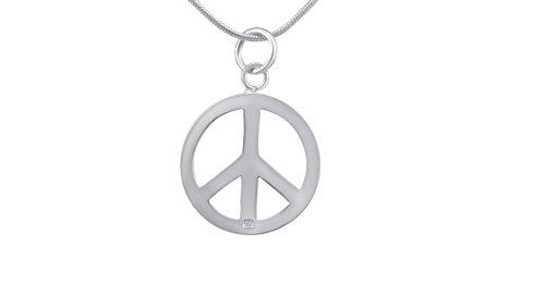 Hanessa Peace - Collana con ciondolo a forma di pace, da donna, in argento placcato argento, regalo di Natale per donna e ragazza