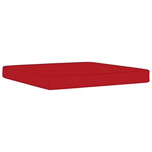 Tidyard Cojín para Otomana de Palés Cojín de Exterior para Otomana Cojín para Balcón Terraza de Exteriores Terrazas Patios Balcone Tela Rojo