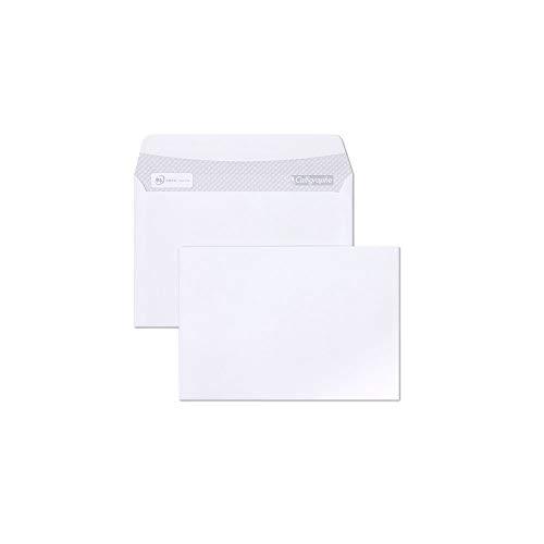 Calligraphe (gamme correspondance Clairefontaine) 5666C - Un paquet de 100 enveloppes auto-adhésives blanches 11,4x16,2 cm 80 g sous film