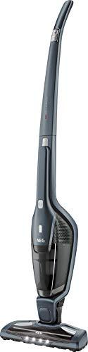 AEG Ergorapido CX7-2-35TM 2in1 Akku-Staubsauger (beutellos, bis zu 35 Min. Laufzeit, freistehend, 180° Drehgelenk, Bürstenreinigungsfunktion, LED-Frontlichter, grau/blau)
