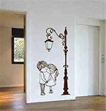 Linda pareja con calles poste de lámpara inspiradores citas pegatinas de pared para sala de estar para dormitorios habitación de niños decoración de pared