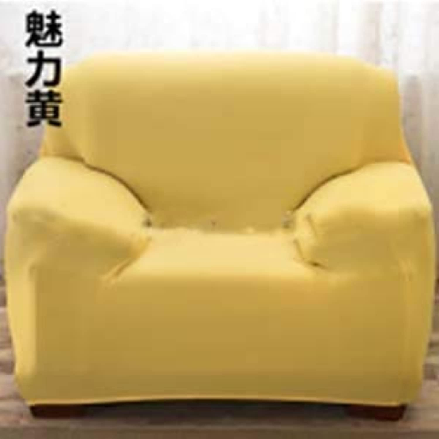 1 2 3 4 Seat Sofa Cover Predector for Kids Dog Cat Pets Reversible Furniture Anti-Slip Couch Cushion Covers Four Seater Cover   Yellow, Two-seat