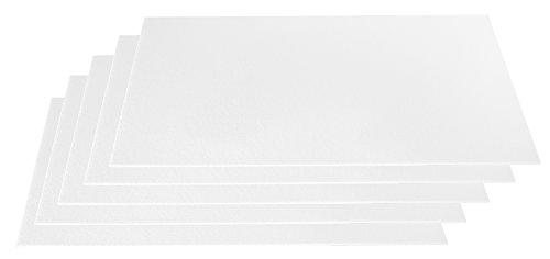 Styroporplatten dünn (3mm) weiß 5er Set Maße 50x33cm