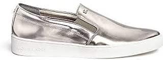 Women's Metallic 'Keaton' Mirror Leather Skate Slip-ons Size 6 1/2