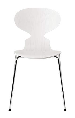 フリッツ・ハンセン 【日本正規品】アリンコチェア クローム脚 44cm カラードアッシュ:ホワイト(105) ANT-3101