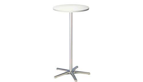 Maul 9323102 Table haute hauteur 110 cm circonférence 60 cm Blanc