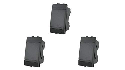 3X Deviatore 1P 16A Unipolare Nero Compatibile Bticino Living SANDASDON SD80003
