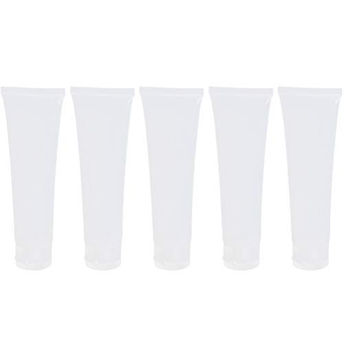 Collectsound 5 pcs Tube Squeeze Cosmétique Crème Lotion pour le plastique de voyage Bouteille Vide Conteneur, transparent, 100 ml