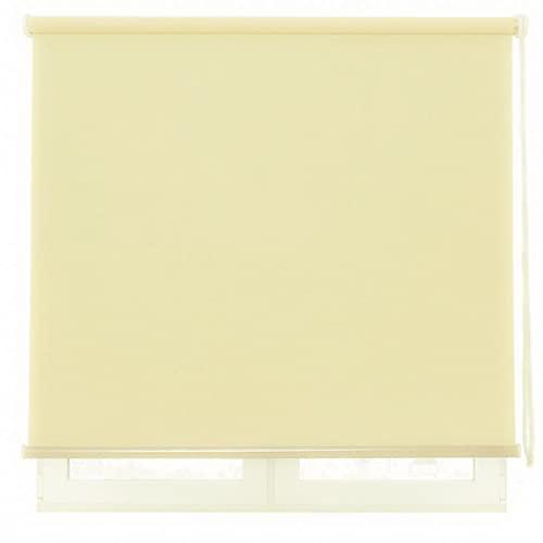 DALINA Estor Enrollable para Ventana Translúcido Liso de Poliéster (Beige Amarillo, 120x180cm)