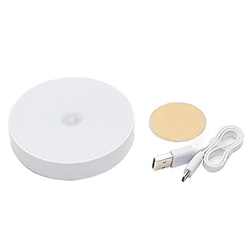 fregthf Night Light LED Motion Sensor 6-lyser Människokroppen Induktion Cabinet USB uppladdningsbara Varm Ljus