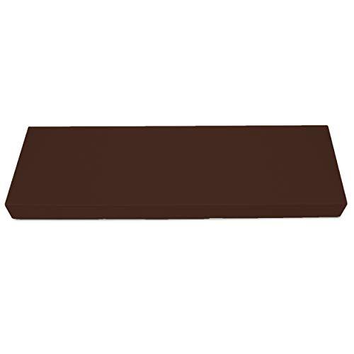SuperKissen24 Materasso Cuscino per Bancale Divano Pallet Schienale 120x40 cm Seduta Impermeabile e Comodo per Divanetti da Esterno - Marrone