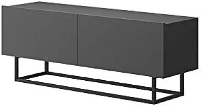 Tendencio Meuble Tele Enjoy Style Industriel 120 Cm Meuble Tv Avec Pied En Metal Gris Amazon Fr Cuisine Maison