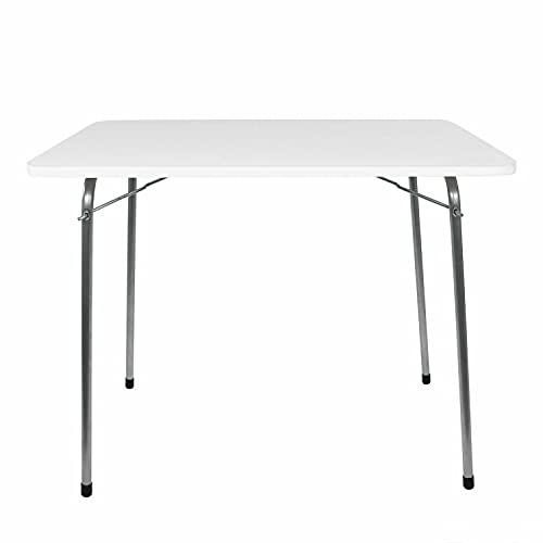 OMAC Tragbare Klapptisch Campingtisch   Leichter Aluminium Bein Esstisch Indoor-Outdoor große weiße Camp Tisch   Campingmöbel Klappbare Tisch