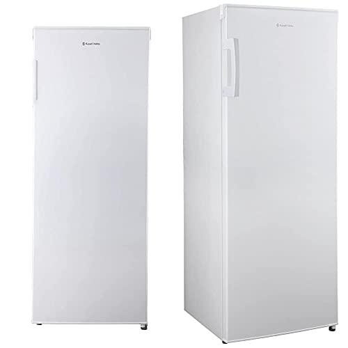 Russell Hobbs RH55FZ142 Freestanding White 55cm Wide 142cm High Freezer - Free 2 Year Guarantee & Freestanding 142cm Tall Larder Fridge, F Rating, 230 Litre Capacity, White, RH55LF142