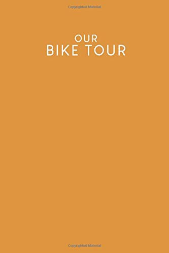 Our Bike Tour: Dotted notebook for your tours and experiences | Design: Mustard yellow