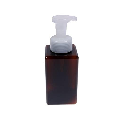 250/ 450ml Pressen Kunststoff Badezimmer- flüssige Kosmetik Shampoo Liquid Schaumseifenspender Behälter Flasche Handpumpe 1PC Convenient (Color : Brown, Specifications : 250ml)