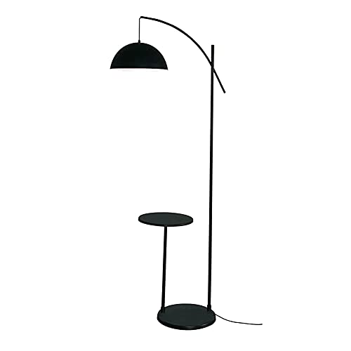 FYRMMD Lámpara de pie de Arco Negro - Lámpara de pie con Pantalla Colgante para Luces Regulables de Sala de Estar, dormitorios, Oficina (lámpara de pie)