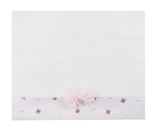 NINNAOH Juego completo de sábanas con carrito de algodón blanco bailarina NEONATA E21LE8